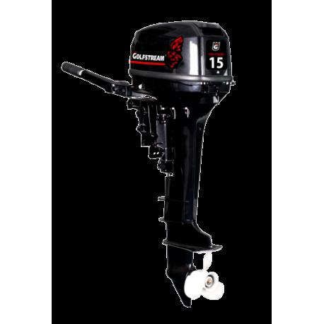 Двухтактный лодочный мотор Golfstream T 15+ BMS с инновационной системой зажигания.